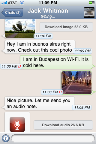 Download WhatsApp Messenger version 2.3.8 for iPhone