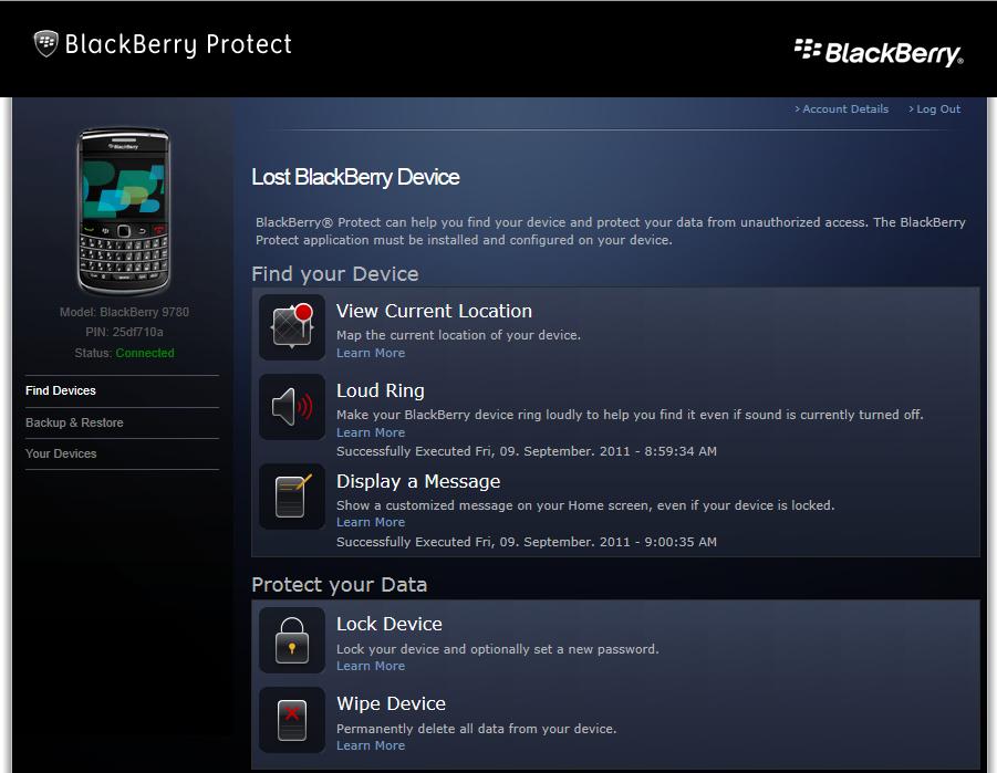 apa kegunaan aplikasi blackberry protect